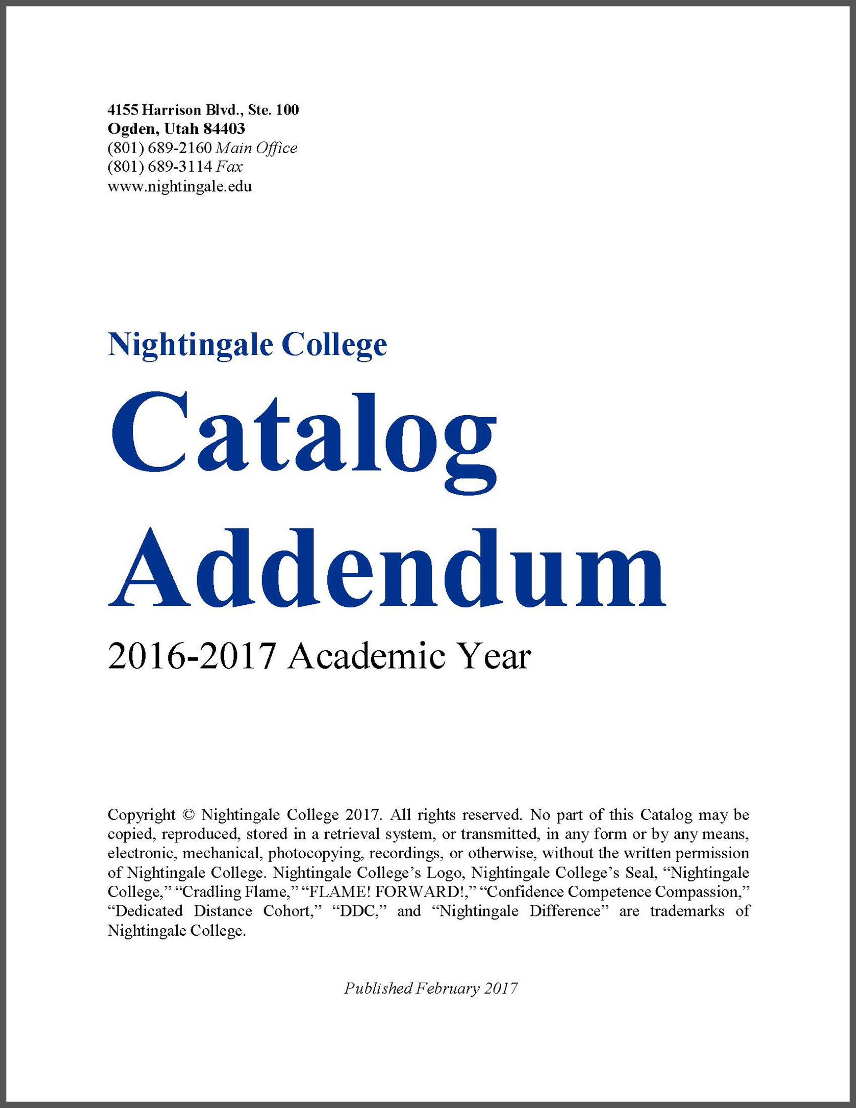 Catalog Insert Cover